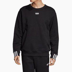 Adidas RYV Crewneck Sweatshirt, Striped Cuffs, Athletic Athleisure Loungewear